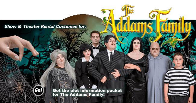 Addams Theatrical Rental Costumes Banner