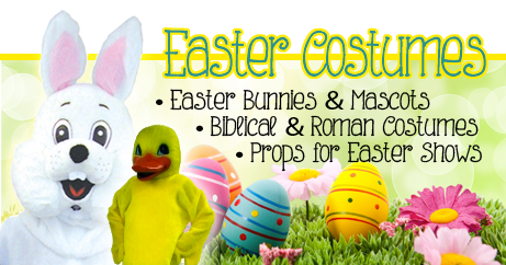 In 2018 Easter will be on Sunday April 1st 2018. Get ready with your Easter Bunny, Chicken Costumes, Biblical Outfits and Costumes, Easter Play Costumes, Pasion Play Costumes. The Costumer even has Easter Bunny Rentals