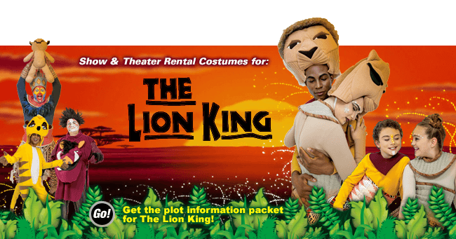 Lion King Theatrical Costume Rentals Banner