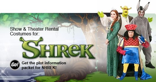 Shrek Theatrical Rental Costumes Banner