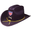 Deluxe Union Officer Hat