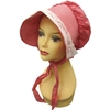 Red Gingham Bonnet with Lace Trim
