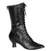 Victorian Lace Up Boots - Black