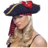 Pirate Hat with Chiffon Ruching