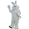 This deluxe rabbit mascot is perfect for creating The Easter Bunny. The mascot costume includes a white fur body suit, matching foot covers with vinyl padding on the bottoms for long lasting durability, and a full size mascot head with see-thru eyes so that you cannot tell who is wearing the costume to keep the illusion of The Easter Bunny real when used with kids.The deluxe Easter Bunny rabbit mascot costume is colored as pictures and is available in adult size standard.