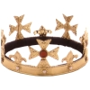 Fleur-De-Lis Gold Kings Crown