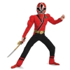 Red Ranger Samurai Red Ranger Muscle Chest Kids Costume