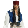 Pirates of the Caribbean Jack Sparrow headband with Hair