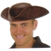 Faux Leather Pirate Hat