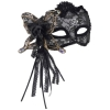 Black Venetian Lace Half Mask