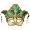Color Changing Mardi Gras Jester Half Mask
