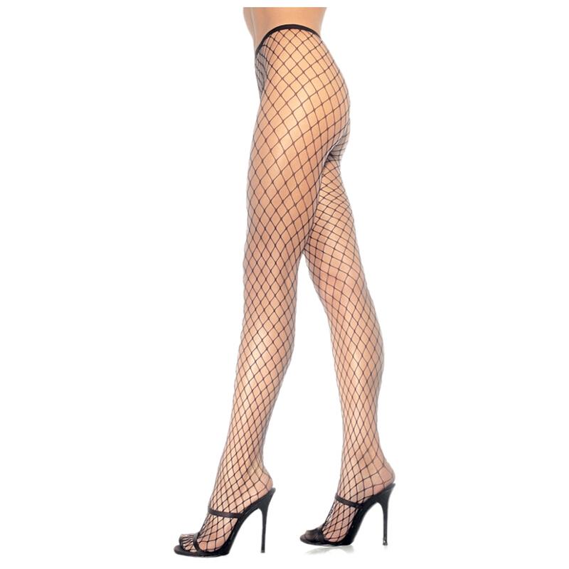 121b947ee Black Lycra Diamond Net Pantyhose - Adult