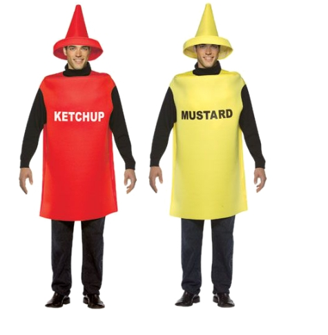 sc 1 st  The Costumer & Ketchup u0026 Mustard Adult Costume