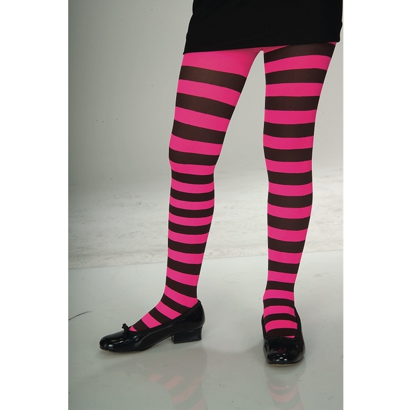 girls-black-and-pink-striped-tights