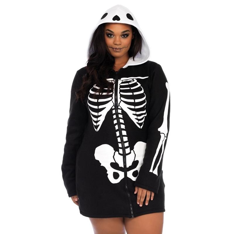 Cozy Skeleton Sexy Adult Plus Size Costume The Costumer