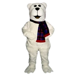 Arctic Bear With Scarf Mascot - Sales