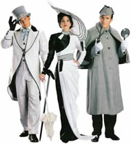 Ascot Cutaway Suit, Fair Lady Ascot Dress & Sherlock Holmes Rentals
