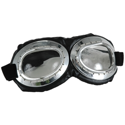 Black and Silver Aviator Goggles