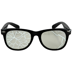 Black Broken Glasses