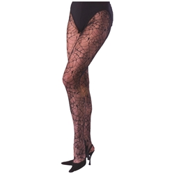 Black Spider Web Tights - Adult