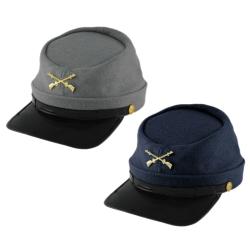 fa76a45041e Deluxe Felt Civil War Kepi Cap