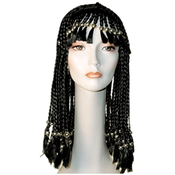 Cornrow Braided Wig with Beads