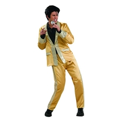 Elvis Deluxe Adult Gold Satin Suit