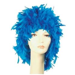 Feather Clown Wig