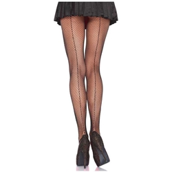 Fishnet Pantyhose w/ Back Seam - Adult