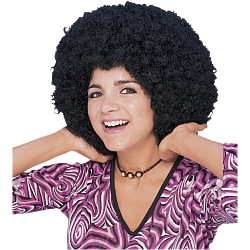 Flower Power Afro Wig