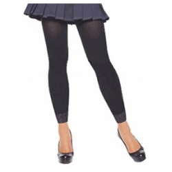 Footless Tights with Lace - Adult