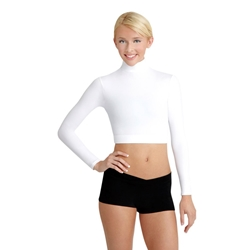 Long Sleeve T-Neck Midriff Dance Top - Capezio TB107