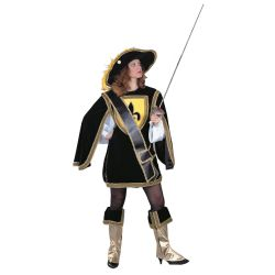 Musketeer Cavalier Lady Deluxe Adult Costume