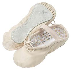 Pink Daisy Ballet Slippers - Child - Wide