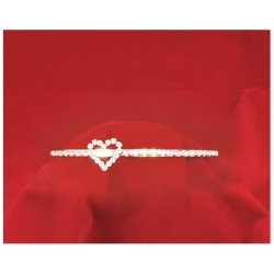 Rhinestone Headband Tiara with Heart