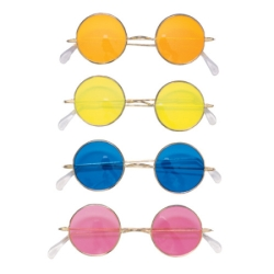 70's Round Colored Glasses