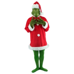 Dr. Seuss Santa Grinch Adult Costume with Mask