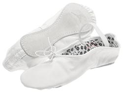 White Daisy Ballet Slippers - Adult - Narrow