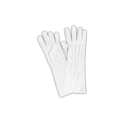 Extra Long White Nylon Men's Gloves