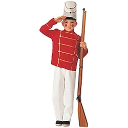 Wooden Toy Solider Child Costume
