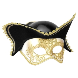 Masquerade Mask with Tricorn Hat
