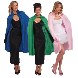 "45"" Colored Capes with Collars"