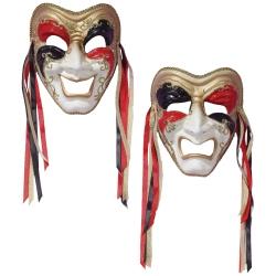 Comedy & Tragedy Venetian Style Mask