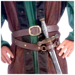 Medieval Double Wrap Belt & Scabbard