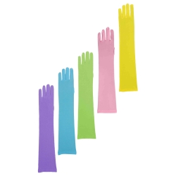 Colored Long Nylon Gloves