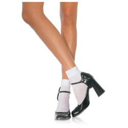 Adult Ankle Socks with Satin Cuffs