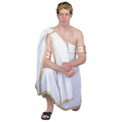 Mens Short Toga Deluxe Adult Costume