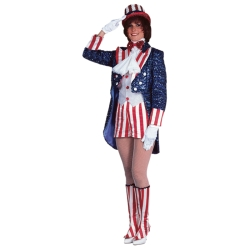 Miss Uncle Sam Deluxe Adult Costume