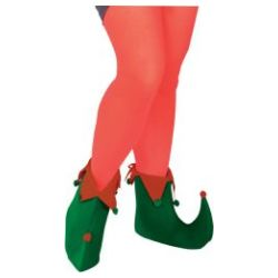 Elf Shoes Felt - Green & Red