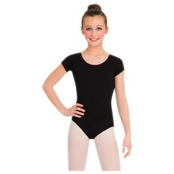 Kids Cotton Short Sleeve Leotard